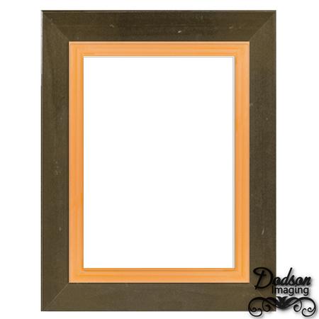 Dodson Imaging | Whimsical Frames | f176-chocolate%20brown-reg-tangerine
